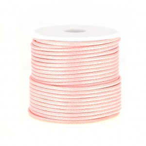 Cordon polyester imitation serpent type snake cord 1.5 mm Light Rose x10 m