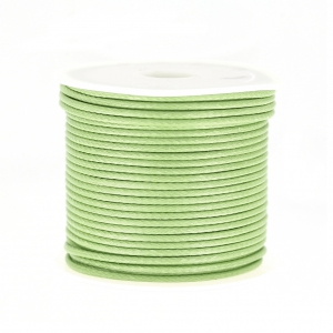 Cordon polyester imitation serpent type snake cord 1.5 mm Tilleul x10 m