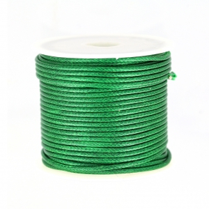 Cordon polyester imitation serpent type snake cord 1.5 mm Green x10 m