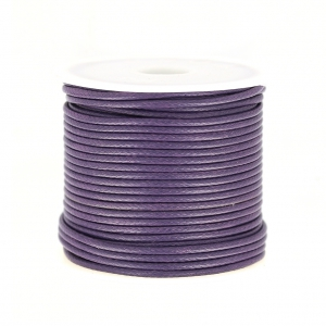 Cordon polyester imitation serpent type snake cord 1.5 mm Purple x10 m
