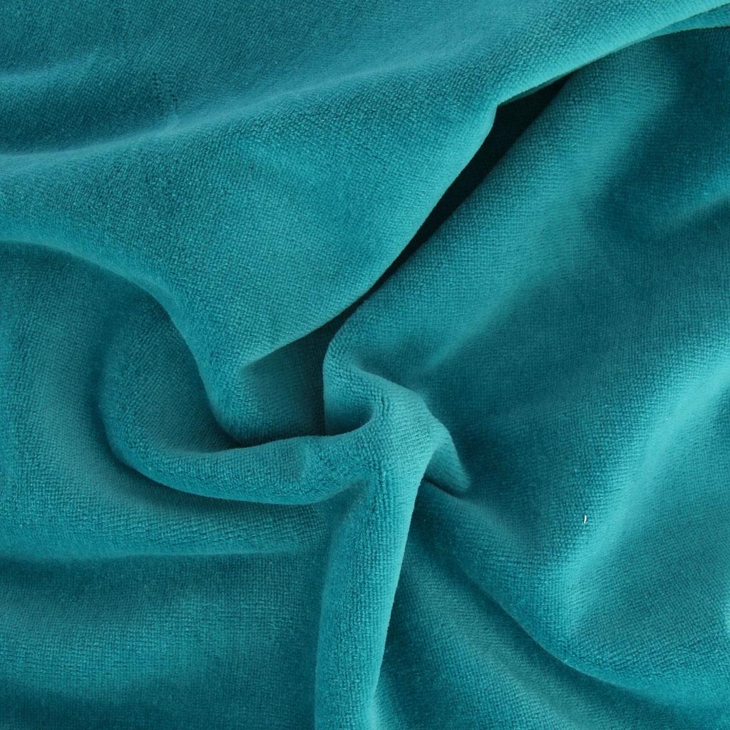 tissu velours ras bleu canard x10cm perles co. Black Bedroom Furniture Sets. Home Design Ideas