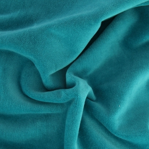 Tissu velours ras bleu canard x10cm perles co - Tissu velours bleu canard ...