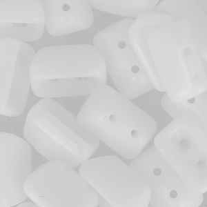 Perles en verre Roofy Beads 5x8 mm Opaque White x25