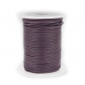 Cordon cuir 1,5 mm Cinnamon Purple x 25 m