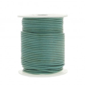 Cordon cuir 1,5 mm Green Turquoise x 25 m