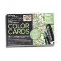 Assortiment de 16 cartes à colorier Chameleon Color Cards Floral