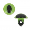 Oeil de chat en plastique à coudre 12 mm Vert x1