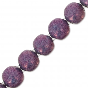 Perles en verre Dobble Beads 2 trous 8 mm Opaque Luster Amethyst x20