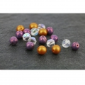 Perles en verre Dobble Beads 2 trous 8 mm Opaque White x20