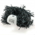 Laine Fashion Super Fur Duo Gris/Noir x50g