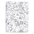 Assortiment bloc notes à colorier 105x140mm Colouring activity Monstre x2