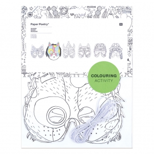 Assortiment de 6 masques de déguisement pour enfants à colorier Colouring activity