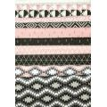 Tissu en coton Nordic - Style Scandinave - Triangles in Carbon x10cm