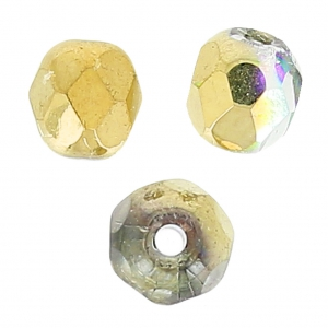Facettes 4 mm Crystal Golden Rainbow x50
