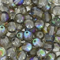 Perles rondes 4 mm Crystal Graphite Rainbow x50
