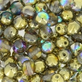 Perles rondes 4 mm Crystal Golden Rainbow x50
