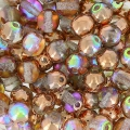 Perles rondes 4 mm Crystal Copper Rainbow x50