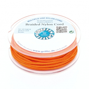 Fil de jade / Fil nylon tressé européen Griffin 0.5 mm Orange x25m