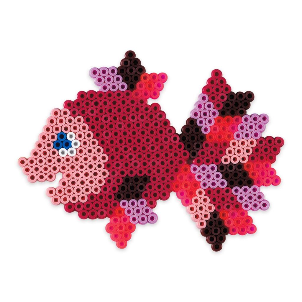 Kit animaux facettes en perles repasser hama midi 5 mm - Perle pour enfant ...