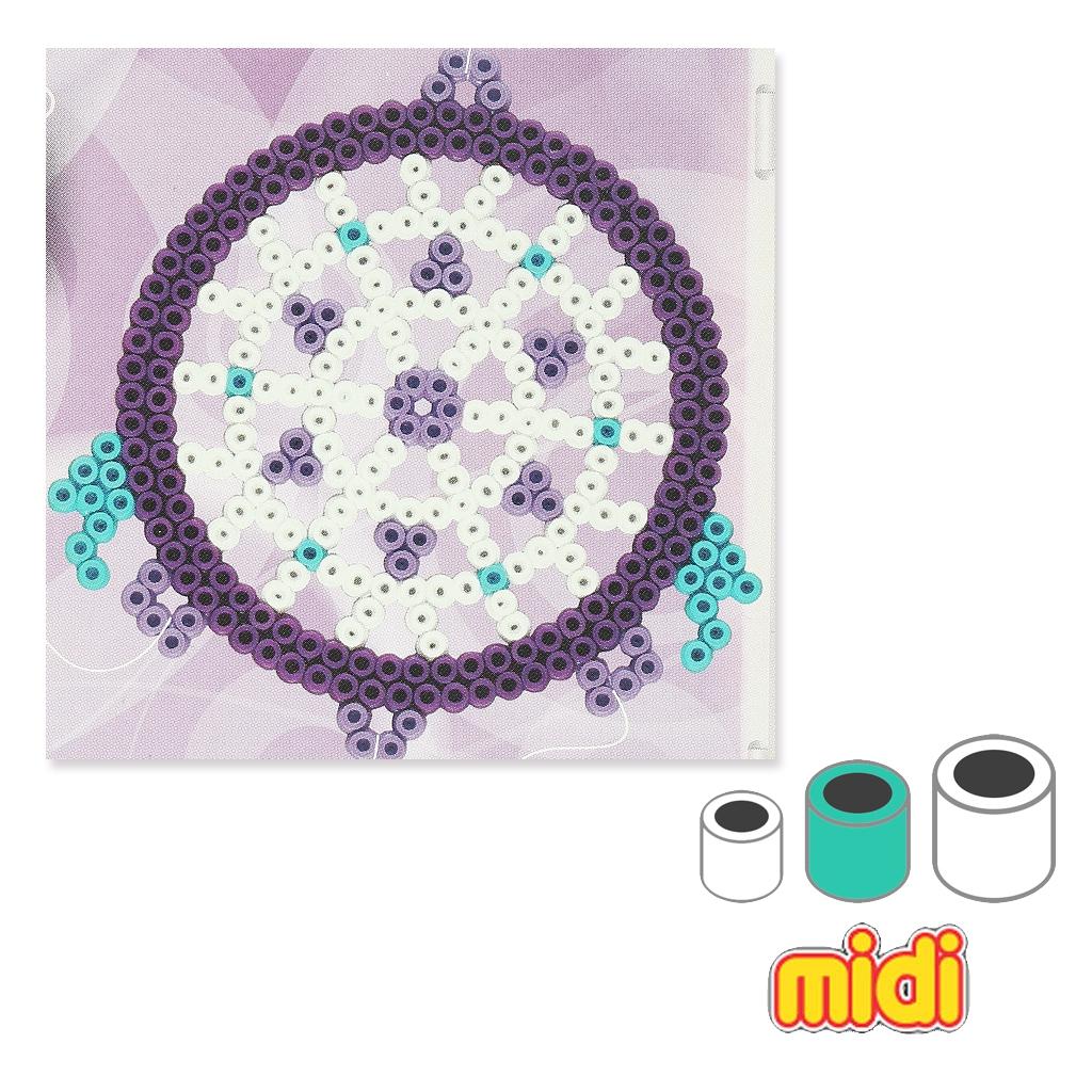 kit d co attrape r ves en perles repasser hama midi 5 mm pour en perles co. Black Bedroom Furniture Sets. Home Design Ideas