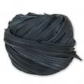 Ruban de soie Shibori Noir x10cm