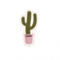 Ecusson Thermocollant Cactus 70x35 mm Kaki/Rose x1
