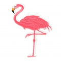 Ecusson Thermocollant Flamant Rose 90x70 mm Blanc/Rose x1