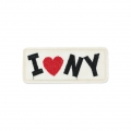 Ecusson Thermocollant Message I love New York 90x38 mm Noir/Rouge/Ivoire x1