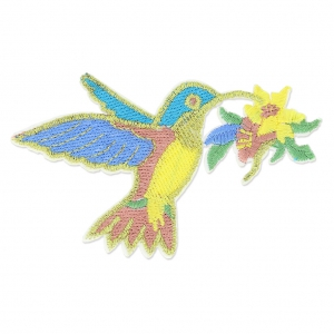 Ecusson Thermocollant Oiseau Colibri 90x58 mm Multicolore x1