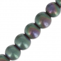 Perles Hematite  4 mm Green/Purple Mat x20