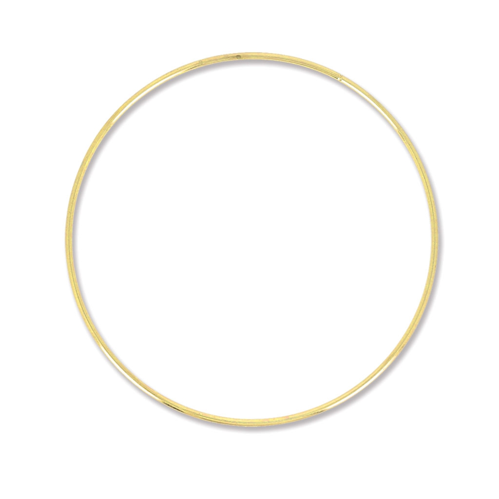 cercle nu en laiton pour attrape r ves suspension et abat jour 18 cm perles co. Black Bedroom Furniture Sets. Home Design Ideas