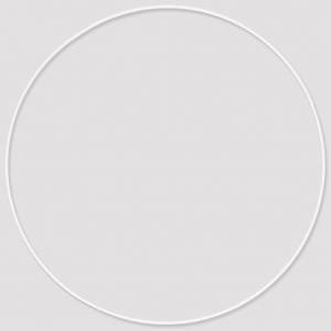 cercle nu en m tal pour attrape r ves suspension et abat jour 40cm blanc perles co. Black Bedroom Furniture Sets. Home Design Ideas