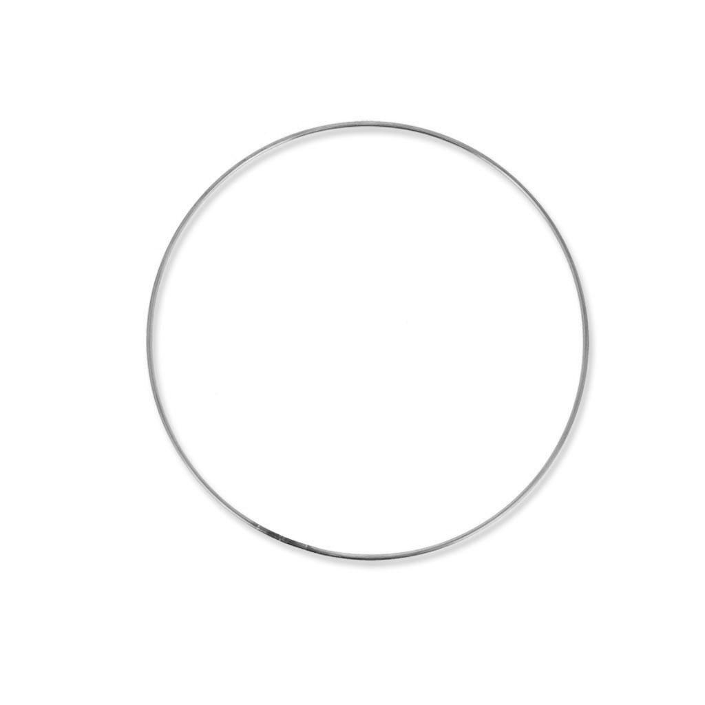 cercle nu en m tal pour attrape r ves suspension et abat jour 15cm perles co. Black Bedroom Furniture Sets. Home Design Ideas