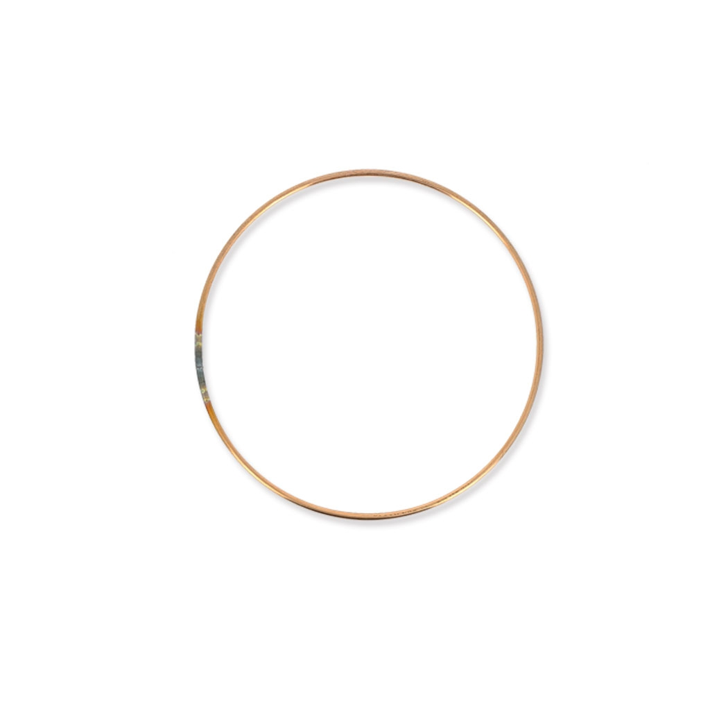 cercle nu en m tal pour attrape r ves suspension et abat jour 10cm cuivre perles co. Black Bedroom Furniture Sets. Home Design Ideas