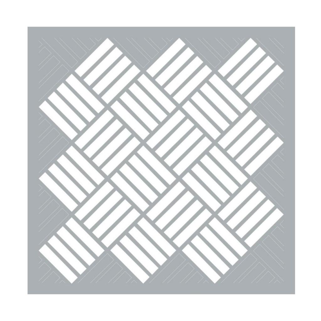 Pochoir Décoratif Home Deco 457x457 Cm Tressage Géométrique X1