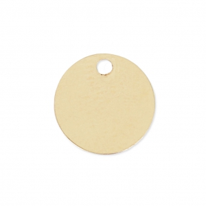 Sequin rond 7 mm Gold filled 14 carats x1