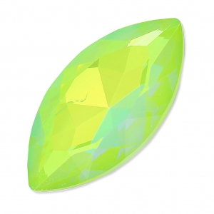 Navette Swarovski 4227 32x17 mm Crystal AB Ultra Lime
