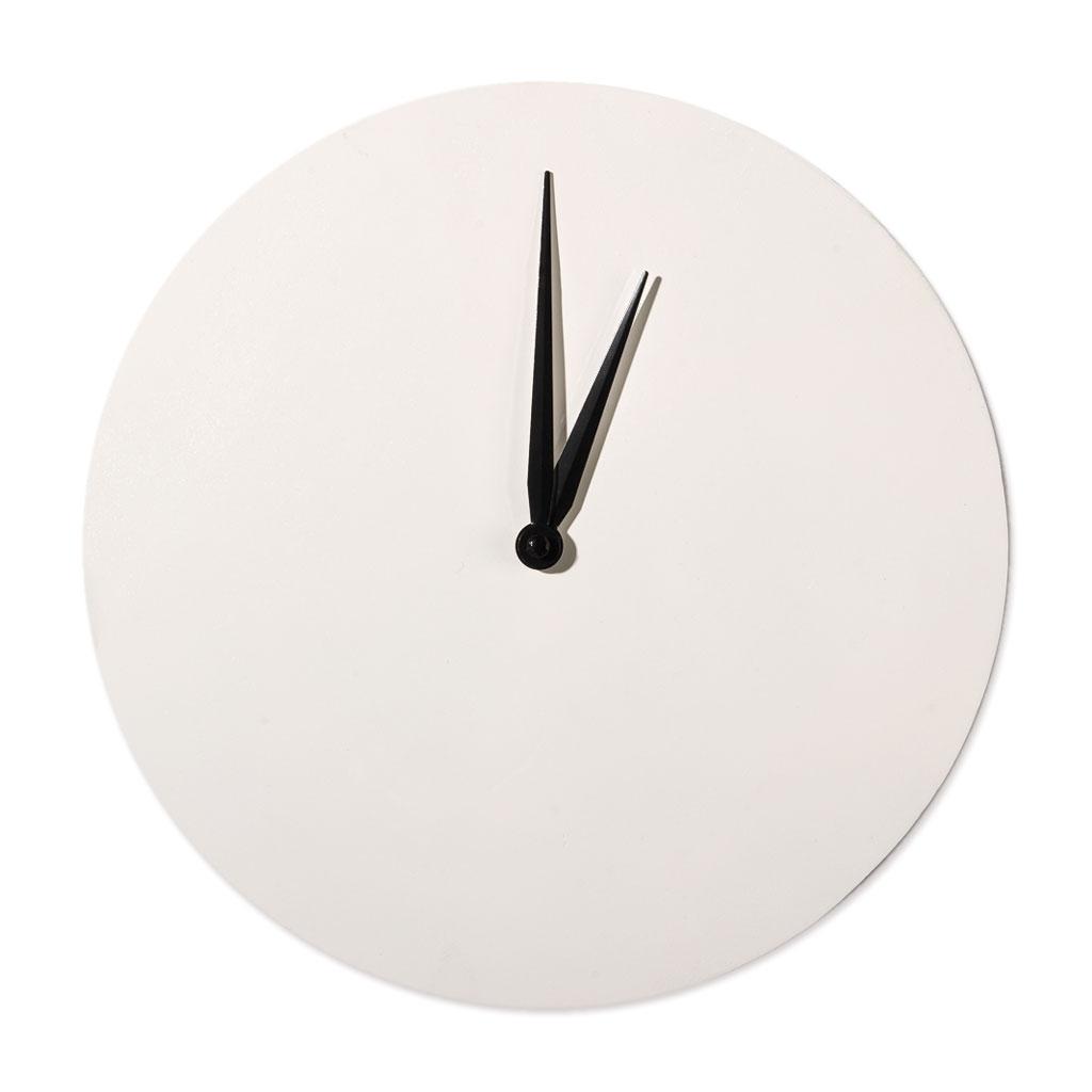 87eead175b489c Horloge à décorer et à personnaliser forme ronde en bois 30 cm blanc ...