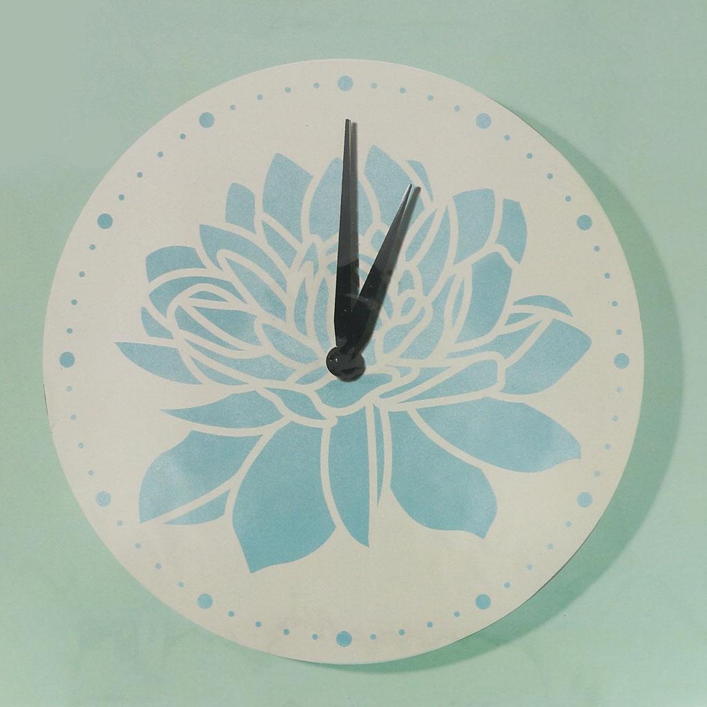 4923f169a8d4bd ... Horloge à décorer et à personnaliser forme ronde en bois 30 cm blanc ...
