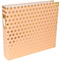 Album Project Life de Becky Higgins 30.5x30.5 cm Pois Doré fond Blush Rose