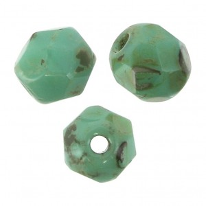 Facettes 4 mm Turquoise Picasso x50