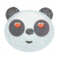 Crystal Fabric Swarovski 610874 à thermocoller Ecusson 45mm Tête de Panda