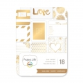 Set de 18 cartes 7.5x10cm Doré Love pour l'Album Project Life DIY