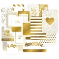 Set de 40 cartes 15x10-7.5x10cm pour l'Album Project Life DIY Doré Love