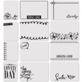Set de 12 cartes 15x10-7.5x10cm pour l'Album Project Life DIY Edition douce