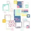 Set de 100 cartes 5x5-10x10 cm pour l'Album Project Life Rose