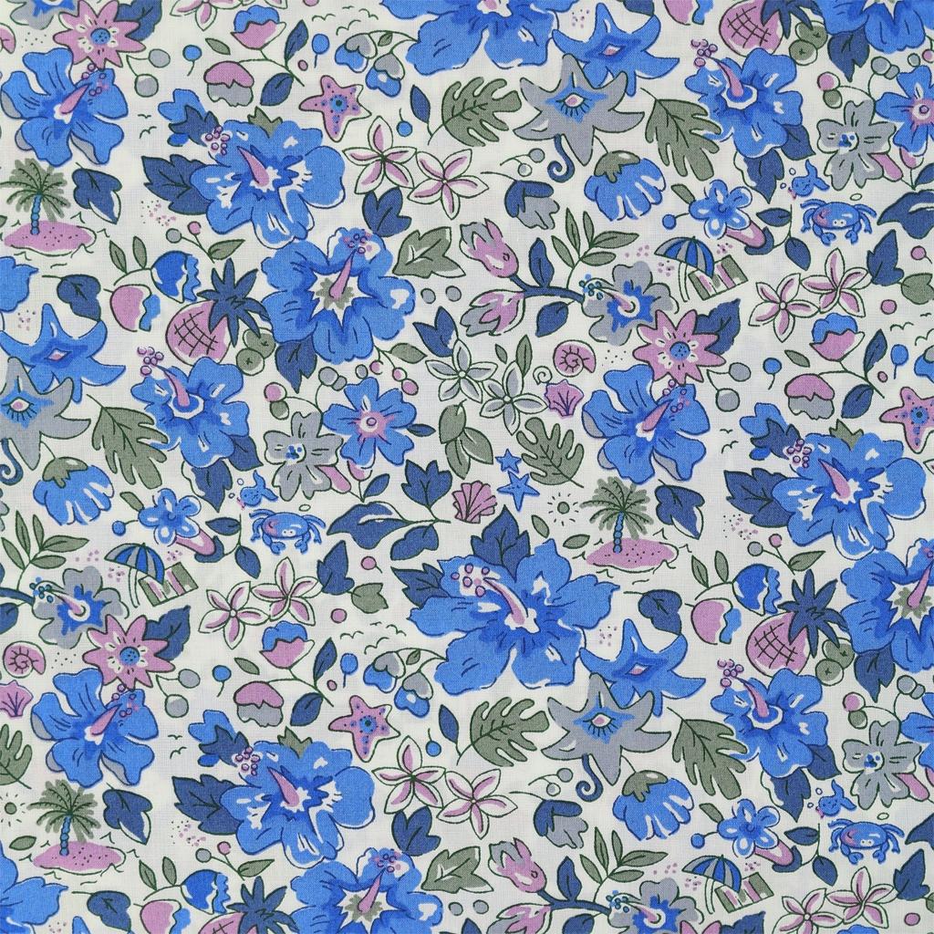 tissu liberty aloha betsy bleu lilas x10cm liberty perles co. Black Bedroom Furniture Sets. Home Design Ideas