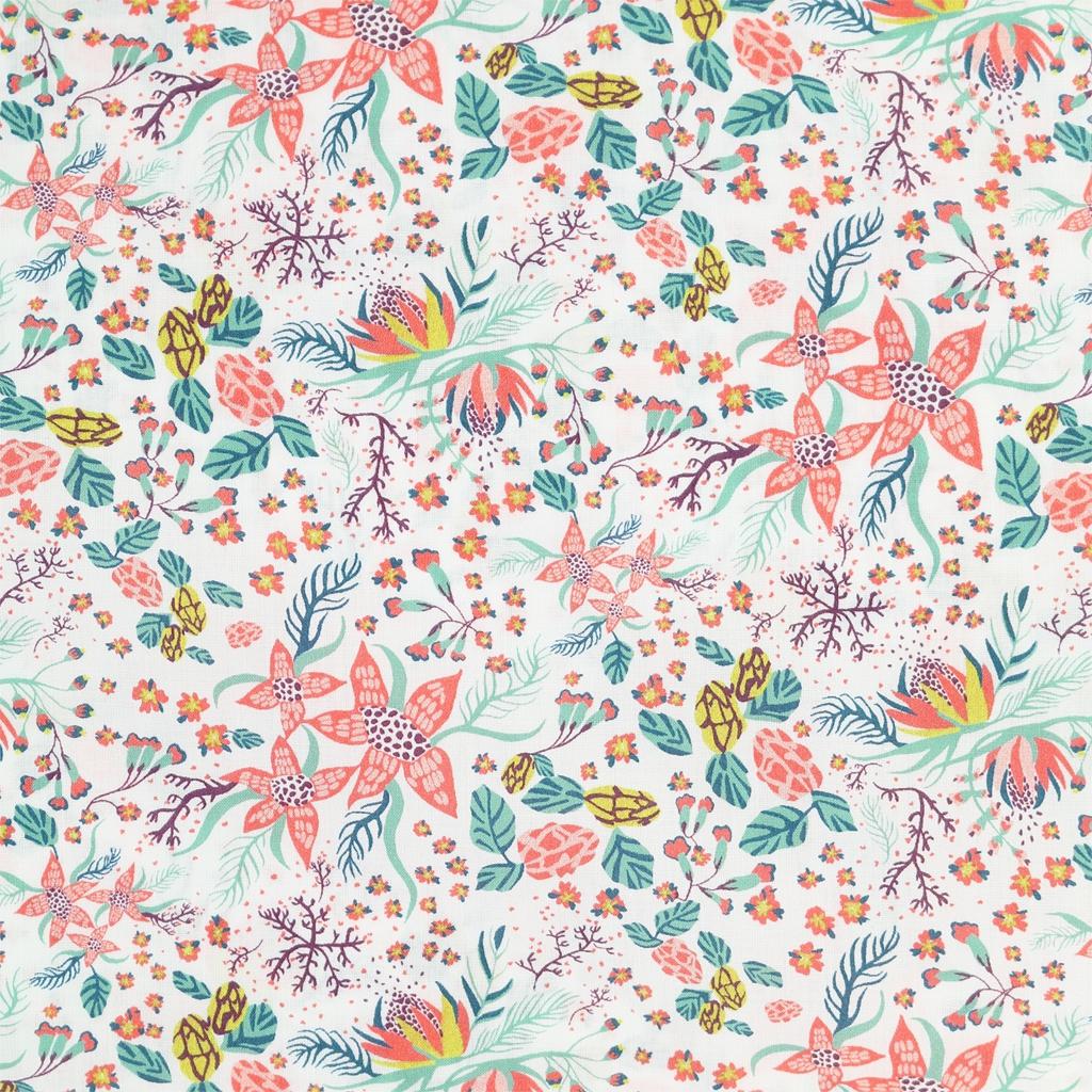tissu liberty beach blossom rose poudr mint x10cm. Black Bedroom Furniture Sets. Home Design Ideas