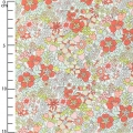 Tissu Liberty - Flower Tops Coral x10cm