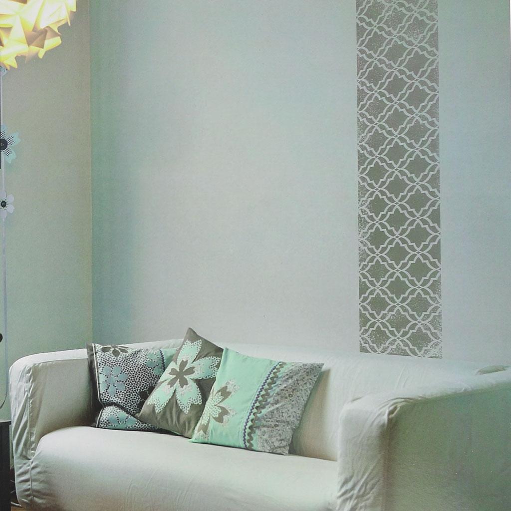 Pochoir Décoratif Home Deco 30x30 Cm Vitrail Grand Modèle Perles Co